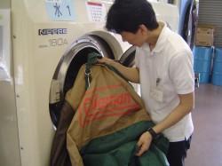 テント洗い作業