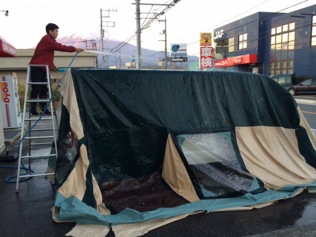 tent cleaning  CABANON(キャバノン) ロッジタイプのテントをテントクリーニング! %tag