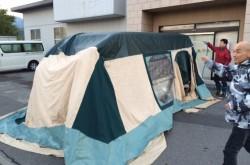 CABANON(キャバノン) ロッジタイプのテントをテントクリーニング!