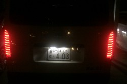 ハイエース ナンバープレート灯のLED交換